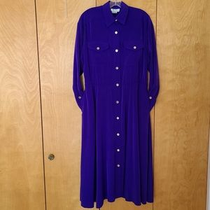 Vintage Rouie purple dress with pockets & buttons